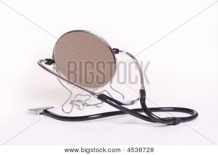 Mirror And Stethoscope