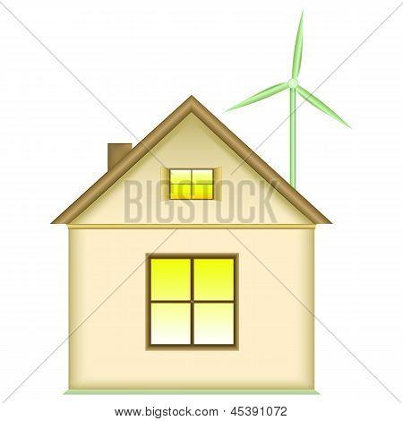 Домашний ветровой турбины - концепция использования возобновляемых источников энергии