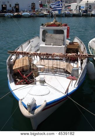 Fishing Boat With Octopus Drying