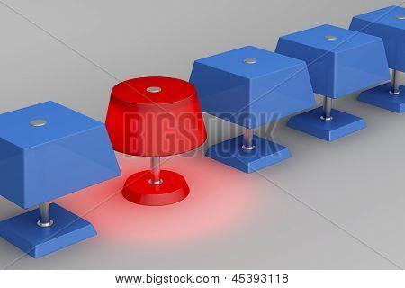 Unique Red Lamp