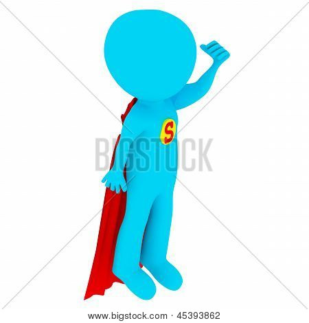 3d people - superman
