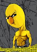 Strong chick on dark background poster