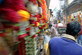 Old Market Of New Delhi, India