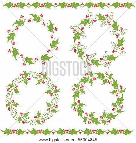 Holly ornaments