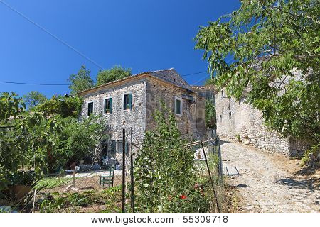 Old village at Corfu island