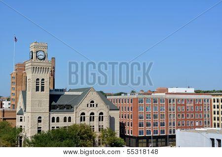 Skyline of Sioux City, Iowa