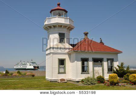 Mulkiteo Lighthouse And Ferry
