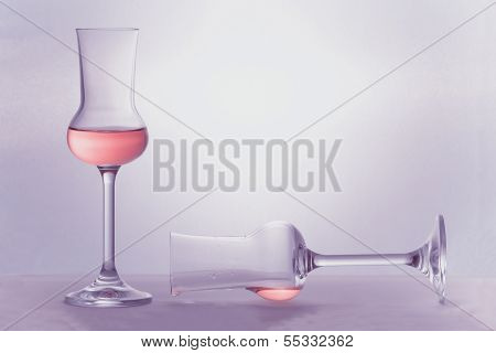 Two Grappa Glasses In Color Of The Year 2014