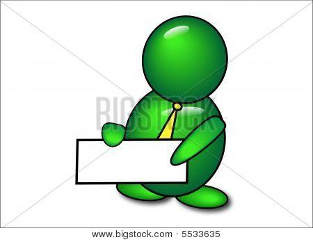 Green Messenger Man