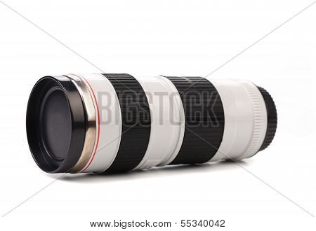 Thermos in the form of lens.