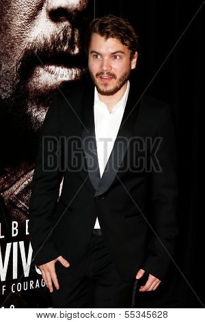 NEW YORK-DEC 3: Actor Emile Hirsch attends the premiere of