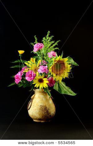 Sunflowers Old Vase