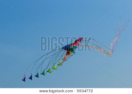 Stacks Of Stunt Kites Crashing