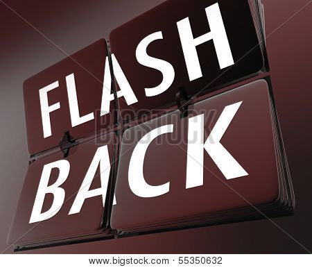 Flashback Word Retro Clock Tiles Turn Back Time