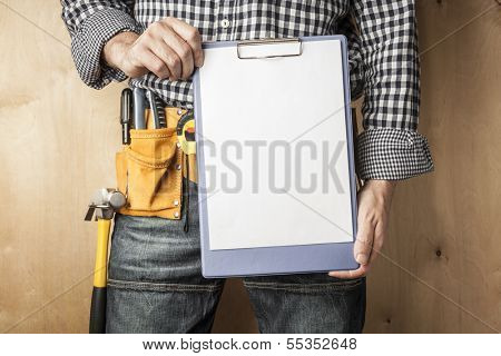 professional with to do list,selective focus on nearest parts