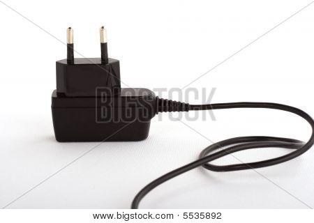 Electrical Plug On White Background