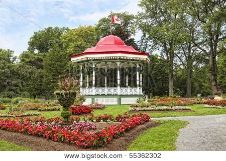 The bandstand or gazebo in the Halifax Public Gardens in Halifax, Nova Scotia.