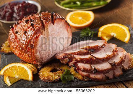 Traditional Sliced Honey Glazed Ham