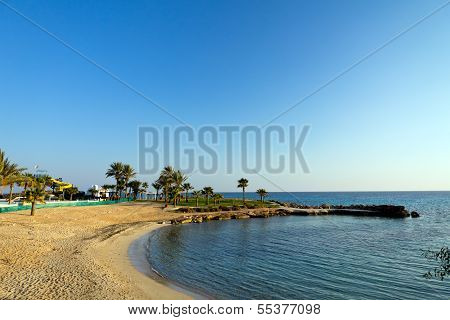 Wonderful sandy beach of Ayia Napa on Cyprus island