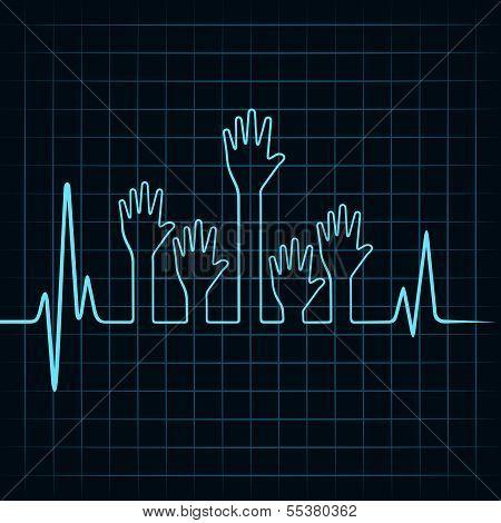 Heartbeat make multiple helping hand