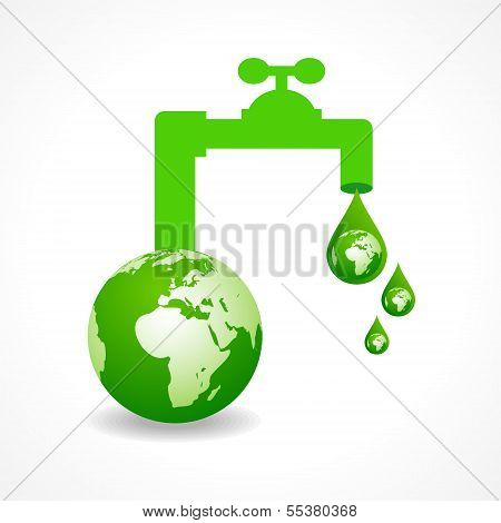 Ökologiekonzept mit Erde Vektor