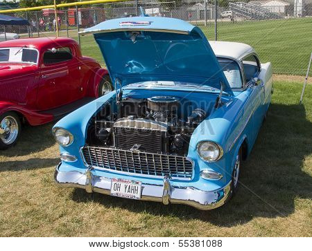 1955 Blue And White Chevy Bel Air