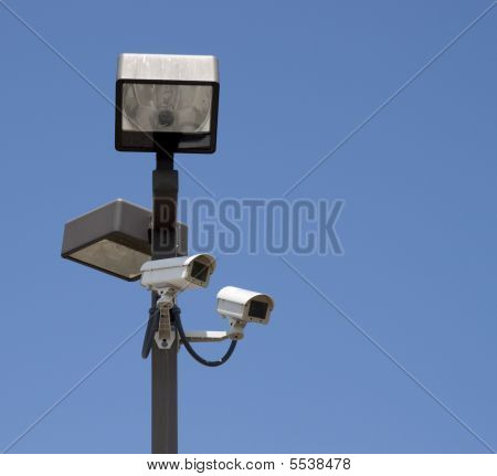 Lighted Surveillance Cameras