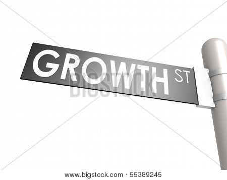Growth street sign