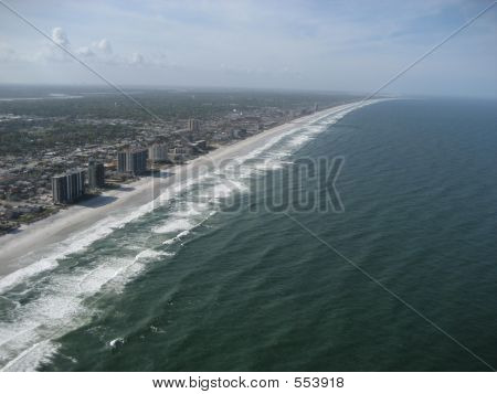 Aerial Of Florida Coastline