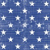 little white stars in regular horizontal and vertical rows on dark blue background grunge seamless pattern poster