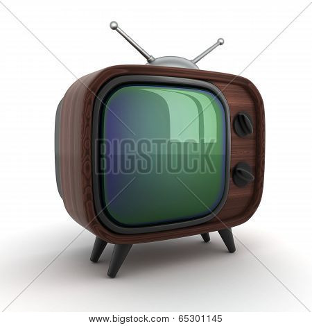 Old Wooden Tv