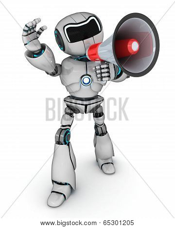 Robot With A Megaphone