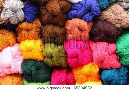 Colorful Yarn at the Market