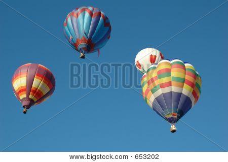 Hot Air Baloons In Flight