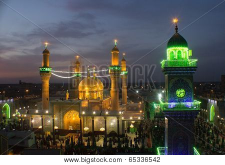 The shrine of Imam Moussa al Kadhim   And his grandson Mohammed al Jawad
