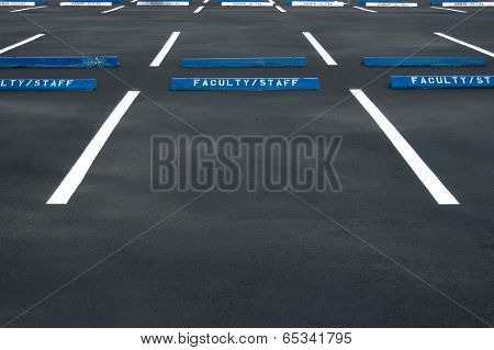 Empty parking lot - freshly painted surface