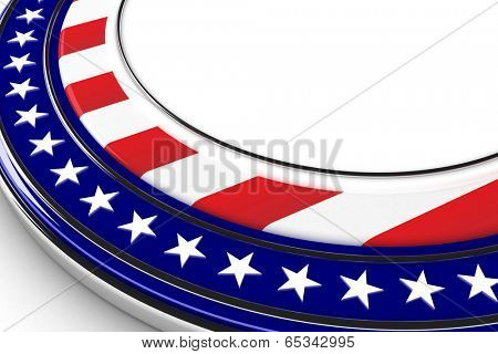 US elections button with white space for custom message