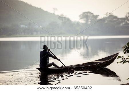 Fishermen On African Lake