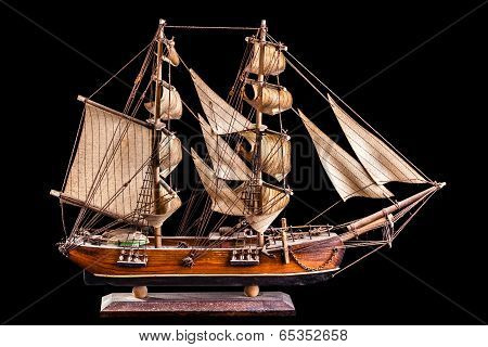 A barque is a sailing vessel with three masts having the foremasts rigged square and only the aftermast rigged fore-and-aft. poster