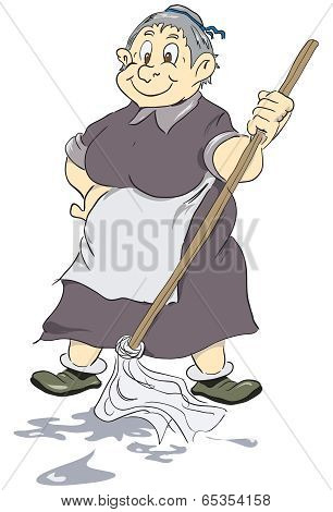 Merry Old Cleaning Lady
