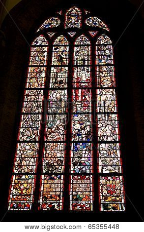 Interior Of Church Nieuwe Kerk In City Delft, Netherlands