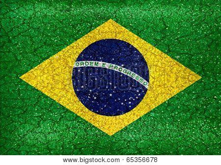 Brazil Grunge Style Flag