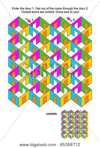 Rooms and doors maze game