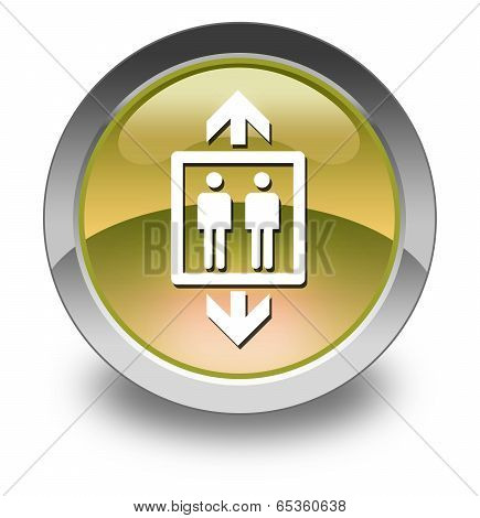 Icon Button Pictogram Image Graphic with Elevator symbol poster