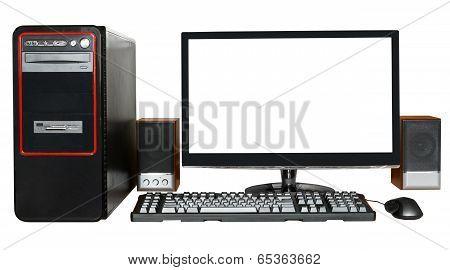 Desktop Computer With Widescreen Display