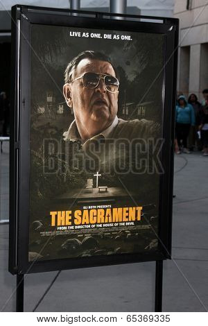 LOS ANGELES - MAY 20:  The Sacarment Poster at the