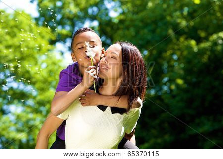 Portrait Of A Happy Young Mother With Son