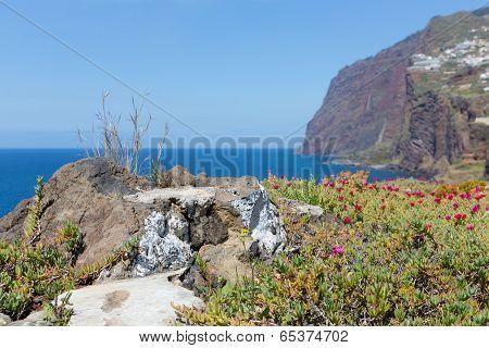 Beautiful Coast With Cliffs Of Madeira Island, Portugal