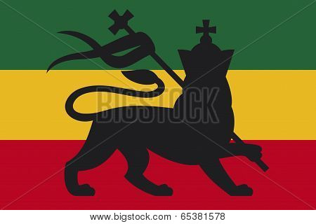 rastafarian flag with the lion of judah