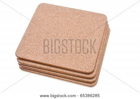 Cork mat with brown border